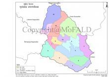 गुर्भाकोट नगरपालिकाको नक्शा